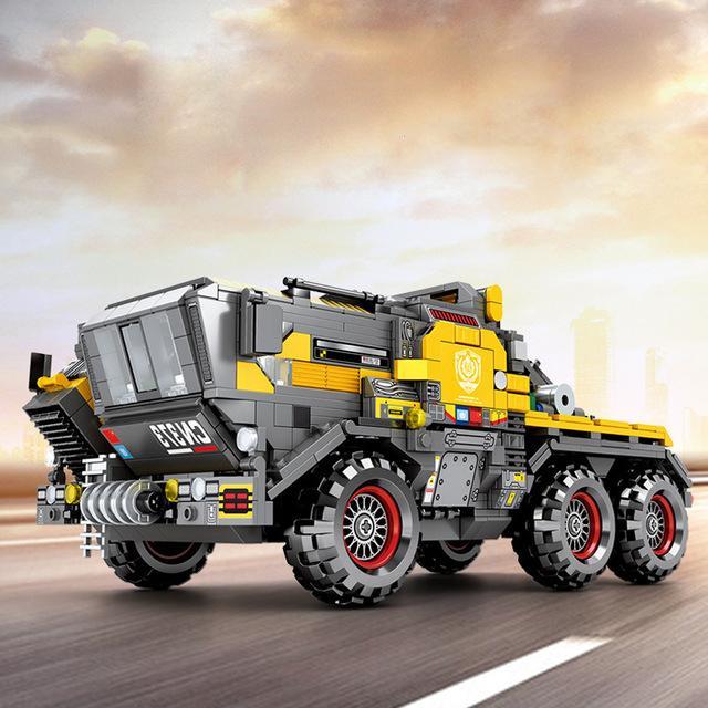 Sembo das wandernde Earth Series Stadt Technik cn373 Bergbau-LKW Transport Vehicle Kopf Ziegel Baustein Spielzeug für Geschenk