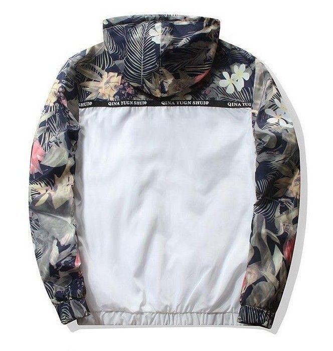 2019 primavera y venta caliente otoño los hombres de la chaqueta de la ropa de sport Deportes Europa y América versión camuflaje floral-impresión del béisbol J