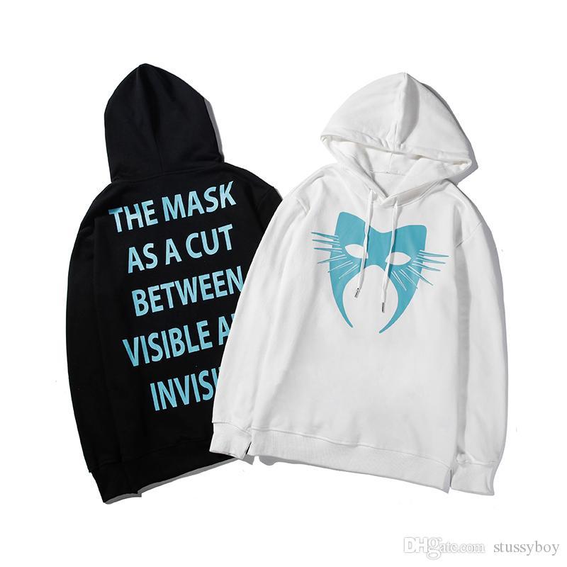 Erkek Hoodie Sweatshirt Erkekler Kadınlar Stylistr Hoodie Hip Hop Siyah Beyaz Erkek Stilist Kapüşonlular Boyut M-XXL