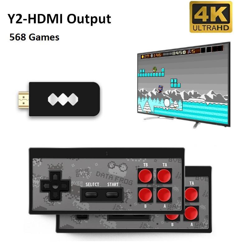 DATI Frog gioco portatile console senza fili 4K HD giocatore del video gioco di HDMI 568 AV 600 Retro Games Classic Handheld Joystick gioco