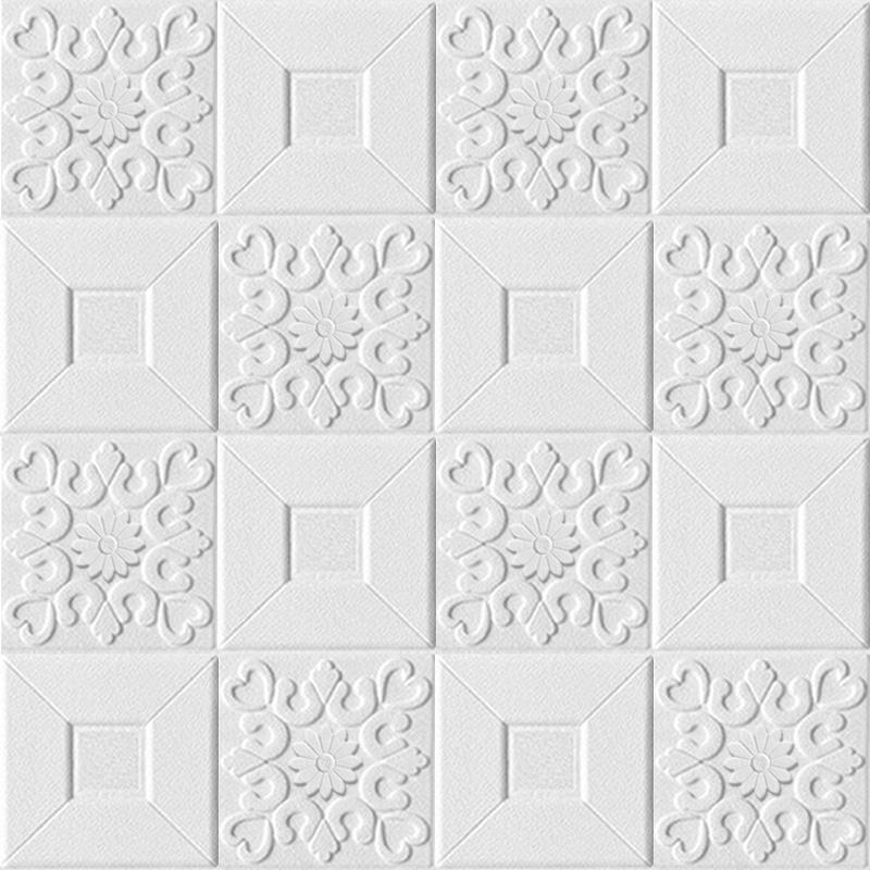 10pcs 3D stereo wall stickers self-adhesive ceiling decorative stickers living room bedroom waterproof wallpaper foam wallpaper