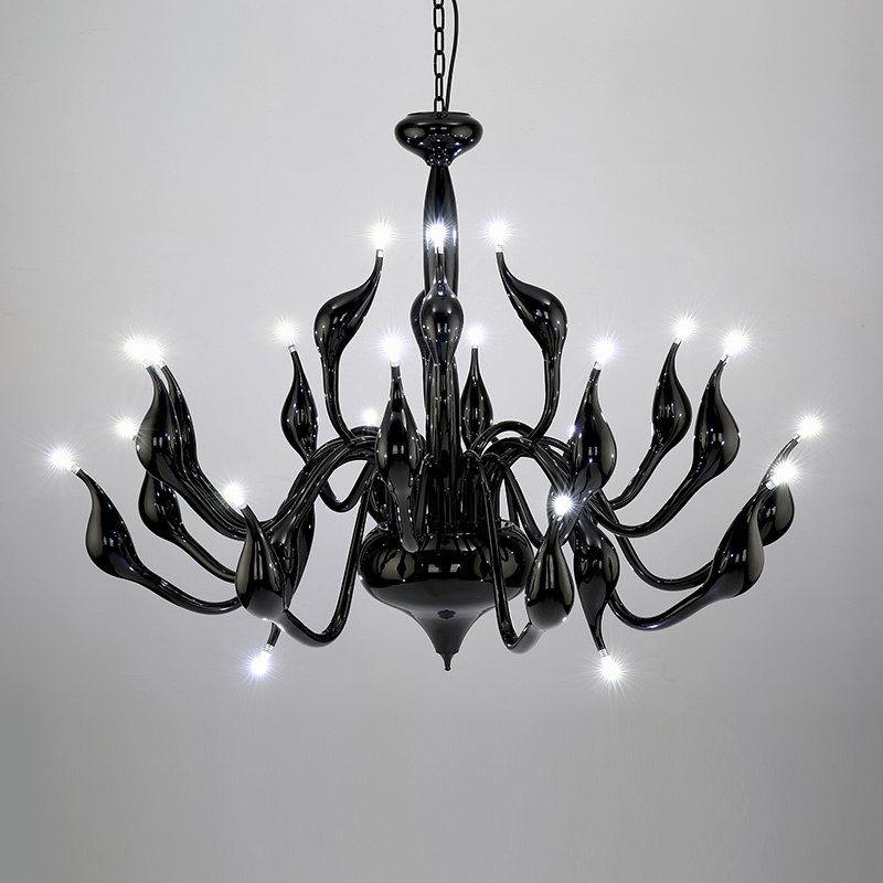 2019 Deco European Swan Chandeliers Candle Crystal LED Chandelier Ceiling Bedroom Living Room Modern Decoration G4 Lighting