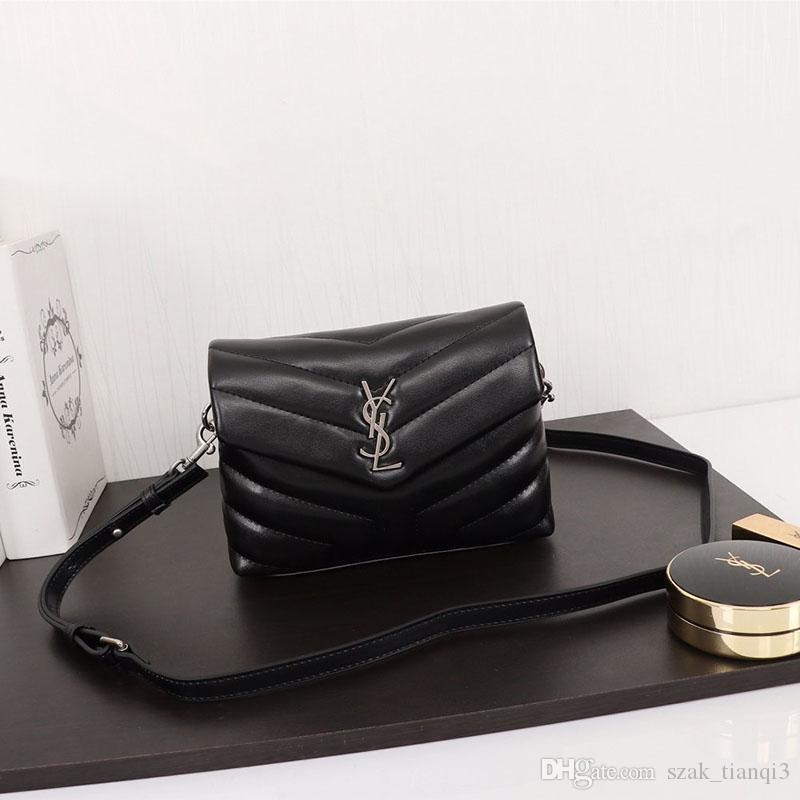 Bayanlar Tasarımcı Lüks Çanta Designer Omuz Çantası Bayan Crossbody Çanta Moda Lüks Metal Zincir Deri hazırlanmış Model: 467702 F6963