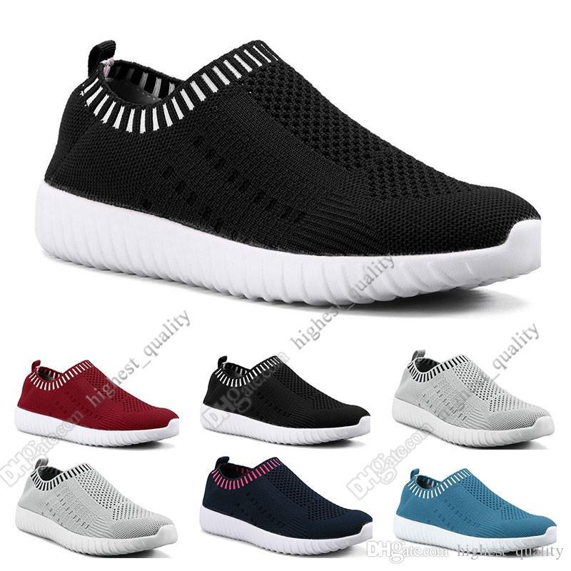 Melhores sapatos de tamanho grande das mulheres de venda voando as sapatilhas das mulheres um pé respirável sapatos leves esportivos casuais tênis Doze