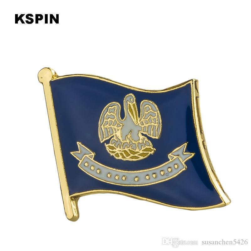 ABD Louisiana Louisiana Rozetleri bayrak rozeti bayrak yaka iğnesi üzerinde sırt çantası iğneler için giysi 1 ADET