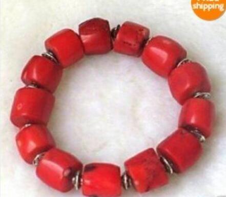 Braccialetto sexy delle perle di corallo rosso di modo del braccialetto della giada di Jewelryr Bello trasporto libero
