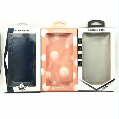 En cuir PU Cas de téléphone vide Retail Box Box Box Transparent Blister Holder pour iphone XR XS Max X 8 Samsung S8 S9 Plus