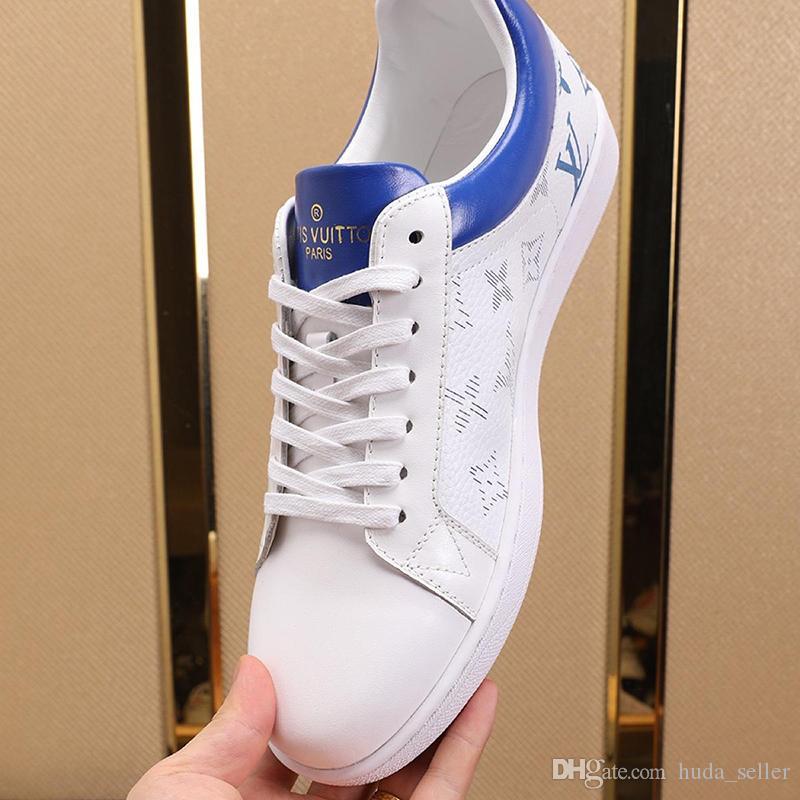 Lüksemburg Sneaker Erkek ayakkabı Zapatos de moda para hombre Moda Tasarımı Dantel-up Lüks Ayakkabı Düşük Top Spor Casual Erkek Ayakkabı Bırak Gemi