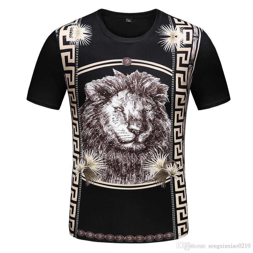 Europa Design Baumwoll-T-Shirt der Männer Schwarzes T-shirts Sommer-T-Männer Hip Hop-T-Shirt Tops mit Tags M-3XL