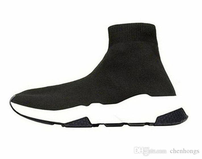 mens için YENİ tasarımcı ayakkabıları Hız Çorap Sneakers Stretch Mesh Yüksek Top Boots siyah beyaz kırmızı parıltı Runner Düz TrainersZ womens