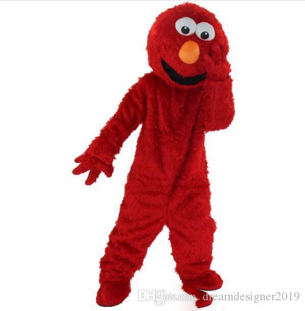 Хэллоуин Улица Сезам Синий красный Cookie Monster Костюм Талисмана Высокое Качество Мультфильм аниме тема персонажа Рождественский Карнавал Необычные Костюмы
