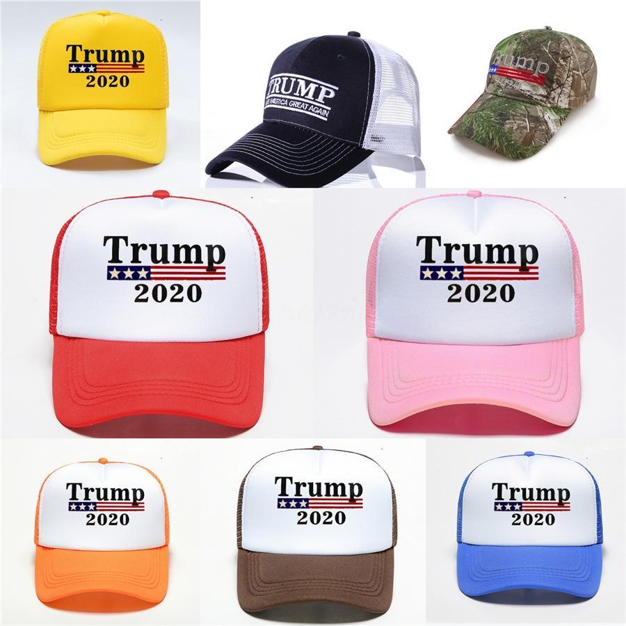 Lavadas Meash Trump Sombrero Keep America 2020 Gran Presidente bordado gorras de béisbol casquillos ajustables con nosotros Seleccionar Trump Deportes Vintage Ffa3538 # 12