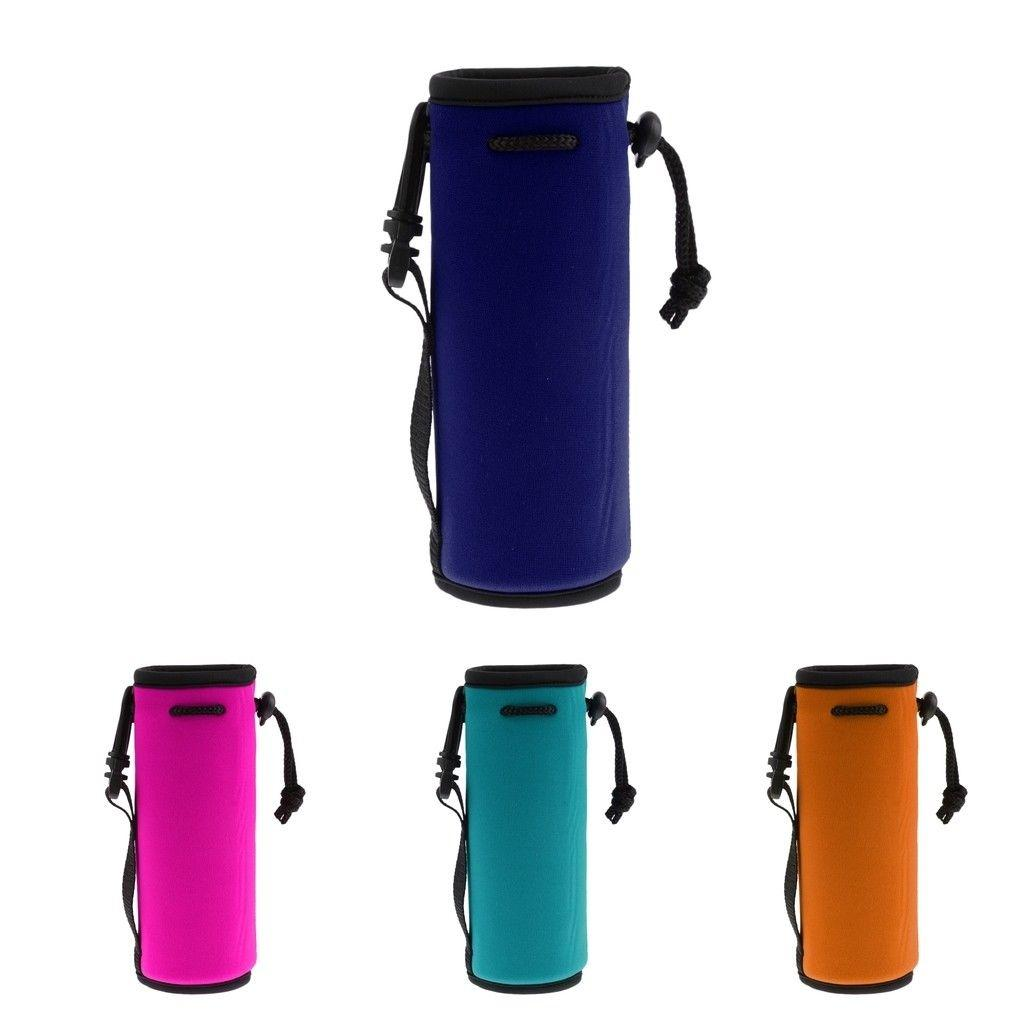 Sport water bottle cover neoprene insulated sleeve bag case pouch BS