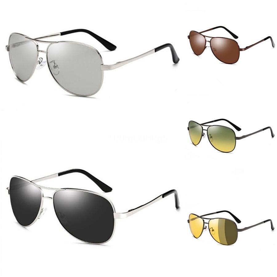 Kadiguci Lunettes de soleil Mode hommes lunettes de soleil polarisées Coating hommes au volant Miroirs Points Black Frame Lunettes Homme Lunettes de soleil UV400 K345 # 3818