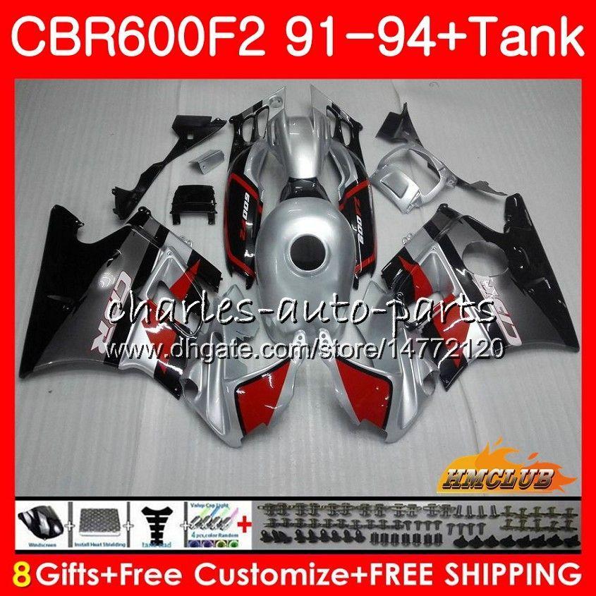 ボディ+タンク用Honda CBR 600F2 CBR600FS CBR 600 FS Silvery Black F2 91 92 93 94 40HC.27 600CC CBR600 F2 CBR600F2 1991 1992 1993 1993 1993 1993
