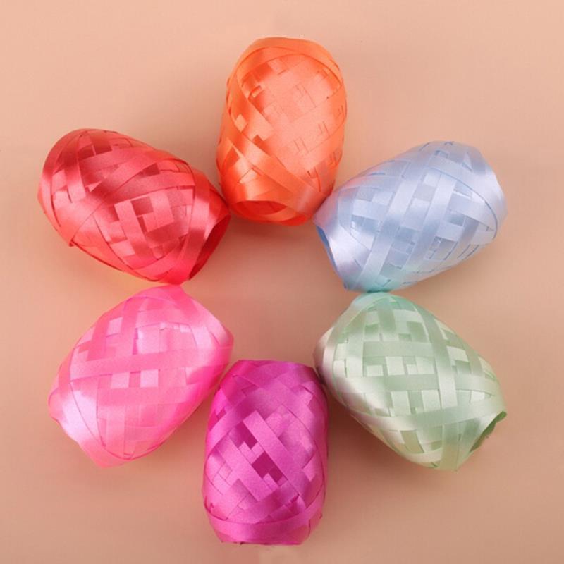6Pcs / set Rastgele 10m Balon Kurdele Düğün Doğum Günü Partisi Folyo Balon Kurdele Festivali Dekor