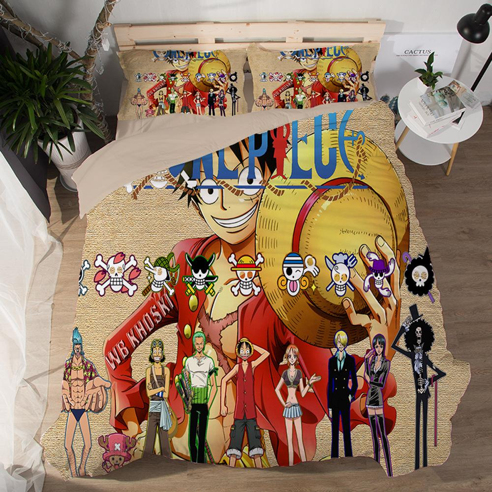 Duvet Cover Cartoon Monkey D Luffy Devil Nut One Piece Naruto British Style Family Student Dormitory Quilt Cover Pillowcase Comforter Sets Online Navy