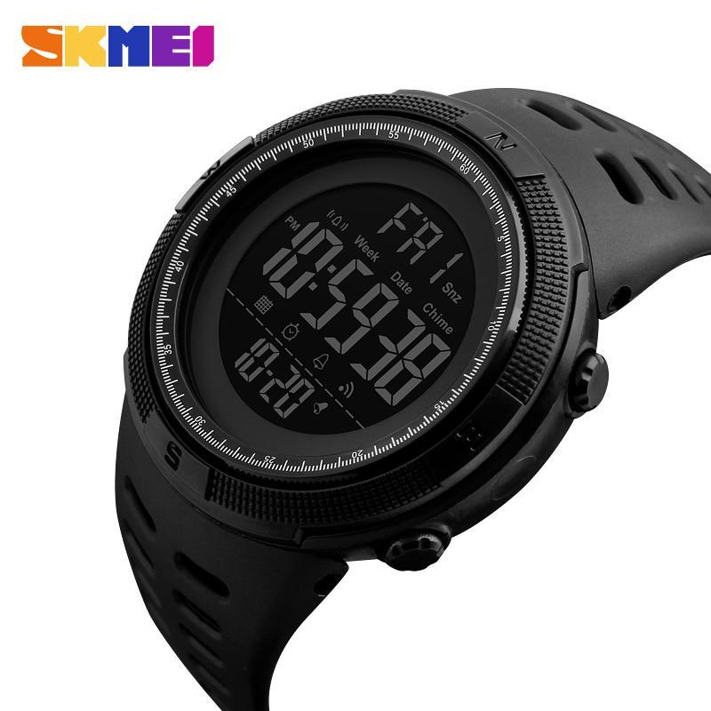 SKMEI-Mode-Uhr im Freiensport-Uhr-Mann-Multifunktionsuhr Wecker Chrono 5Bar wasserdichtes Digital-Uhr-Qualitätsgeschenk für Jungen