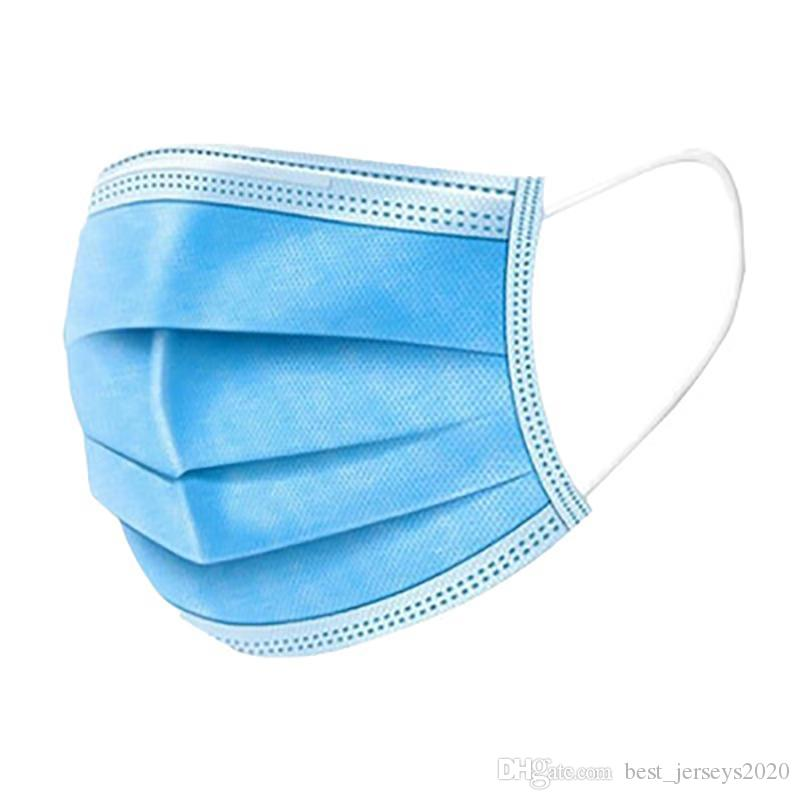 Ship in 24-48 hours Disposable Face Masks 3-Ply Earloop Mouth Mask for Dust and Personal Health Respirator Masks Breathable and Comfortable