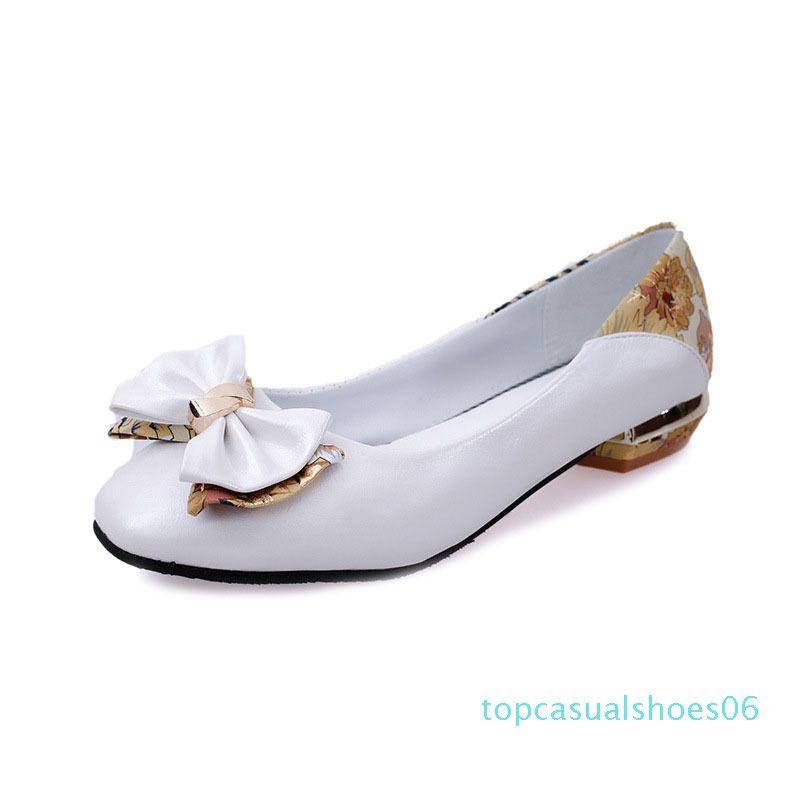 Vente-Femmes Hot Chaussures à l'automne 2019, les filles de la chaussure Bow, version coréenne de grande taille Loisir Chaussures T06 Four Seasons
