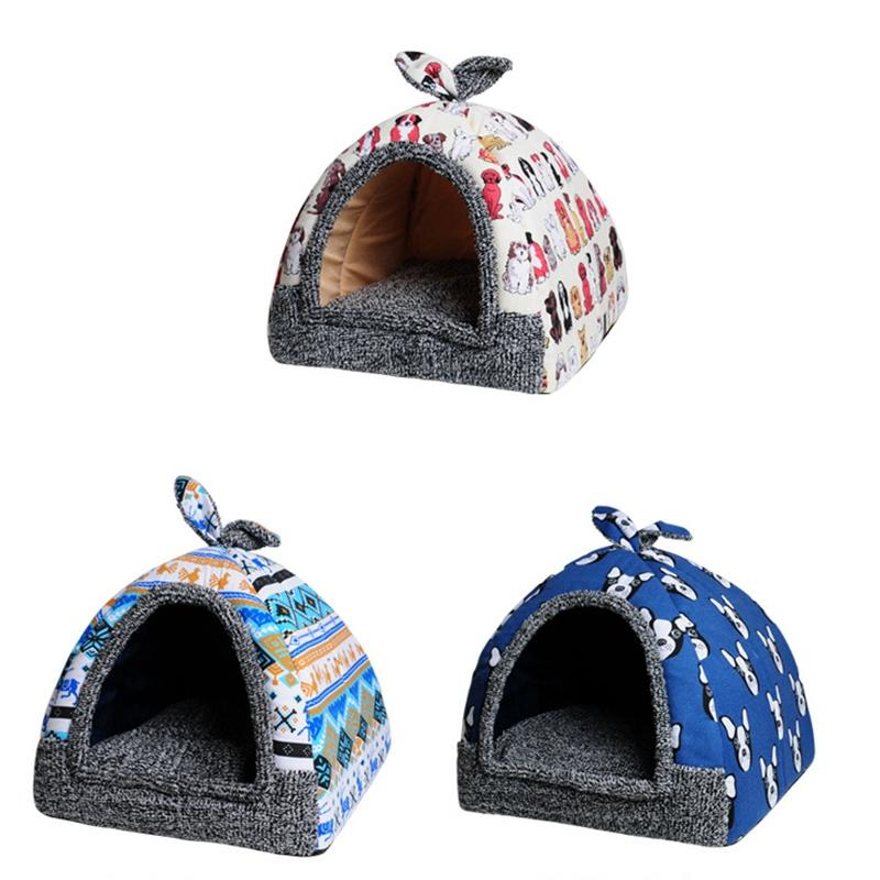 Pet Dog Bed & Sofa House For Cat Home Soft Dog Nest Kennel For Puppy Cat Plus Size Small Medium Dogs Pet