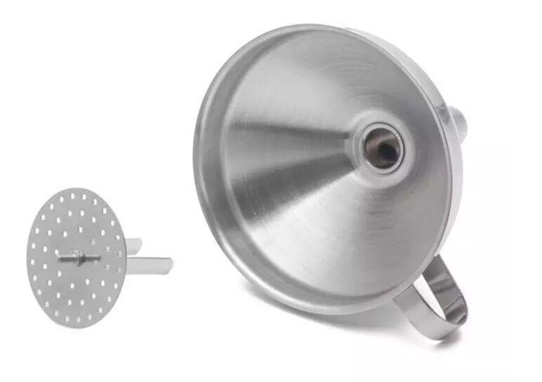 حار 4 بوصة القمع 304 الفولاذ المقاوم للصدأ مع أدوات انفصال مصفاة المطبخ لمسارات تحويل الشحن المجاني