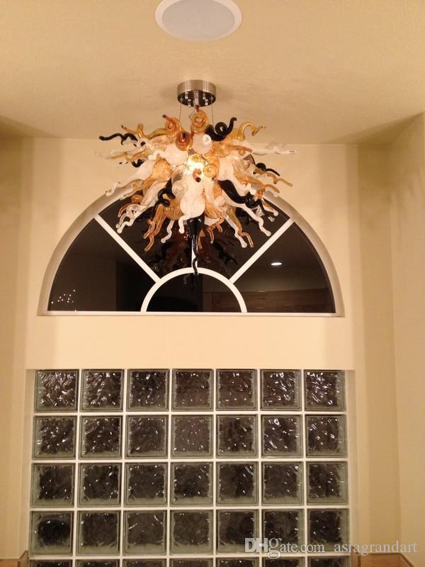 100% soplado CE UL borosilicato de Murano Dale Chihuly arte lámpara de cristal decoración del hogar Hotel Art