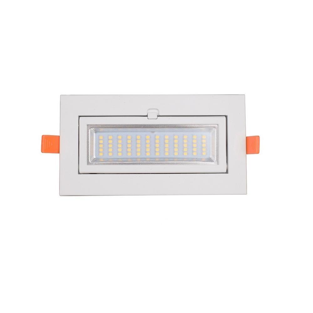 Residential Flimmerfreies 10W 15W 20W Lichtstrahl 100 SMD LED Down Embedded REC Einstellen Beleuchtungskörper