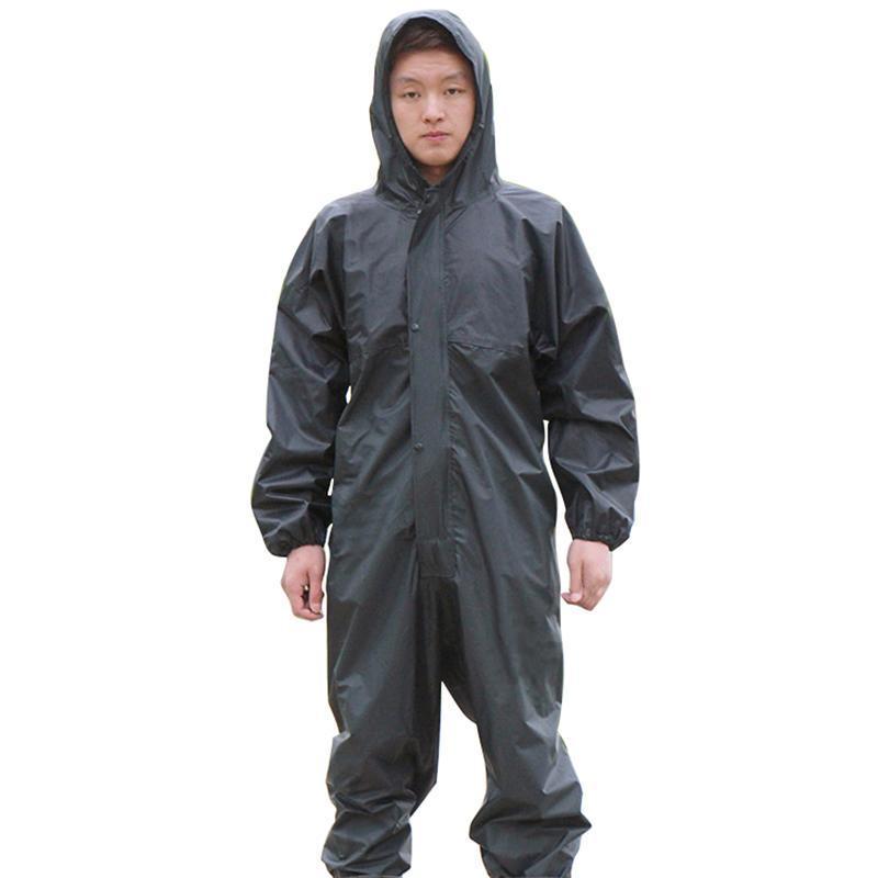 Trajes de trabajo impermeable con capucha impermeable trajes Anti-aceitoso a prueba de polvo pintura Spray ropa capucha ropa de trabajo de protección en Stock