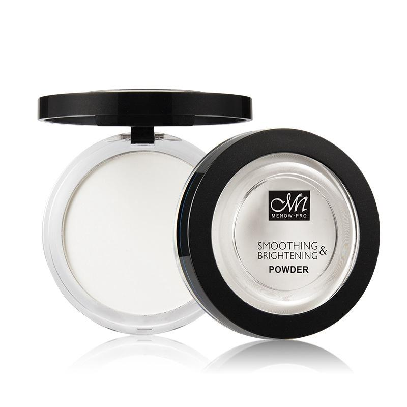 Soft White Color Compact Pressed Powder Menow F16008 White Finishing Makeup Powder Control Oil Concealer Highlights