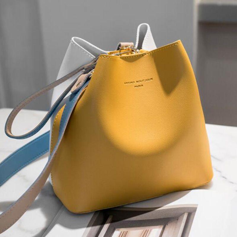 2019 Mulheres Moda Bag Verão Bucket Bag Mulheres PU ombro de couro Bags grife senhoras Crossbody Messenger Bags Totes Sac SH190920