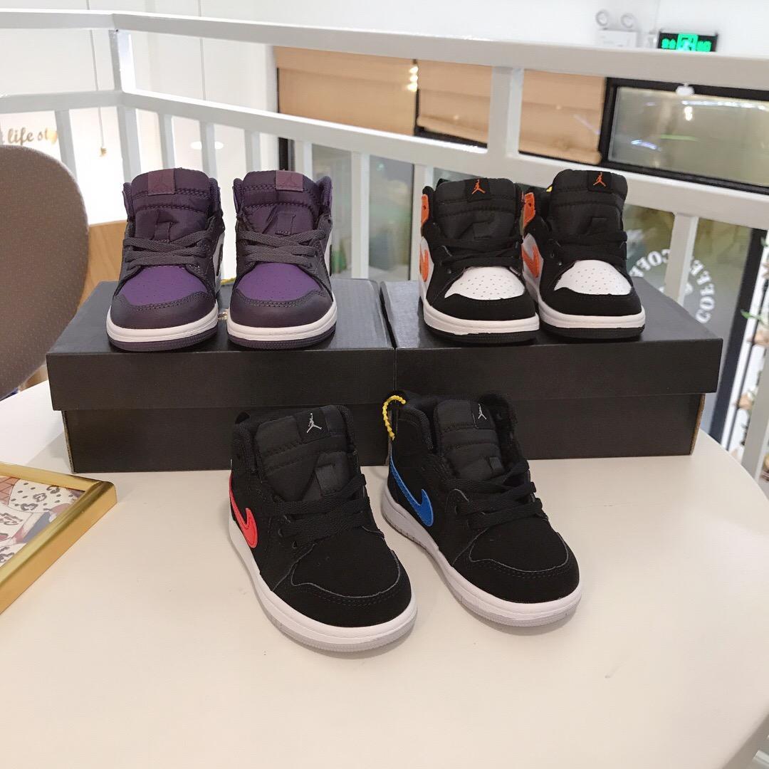소년 소녀 아이들의 babys 야외 스포츠 신발 어린이 신발 크기 22-35 오프 키즈 아기 소년 소녀 청소년 1 초 키즈 농구 신발