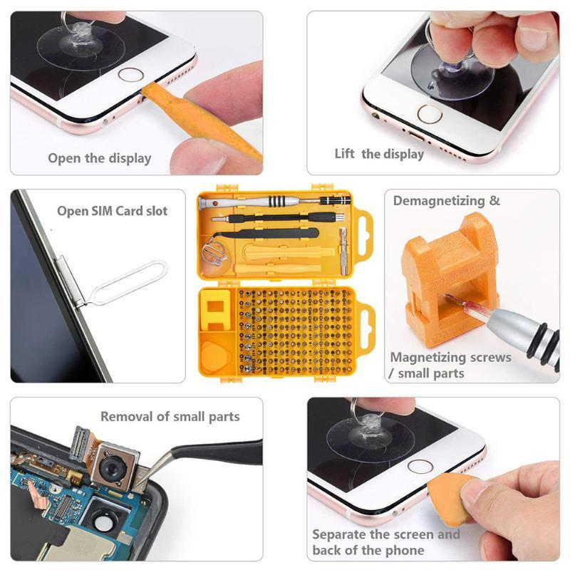 115In 1 Jeu de tournevis Torx multifonctions Ordinateur PC portable Appareil électronique numérique Outils de réparation Accueil main