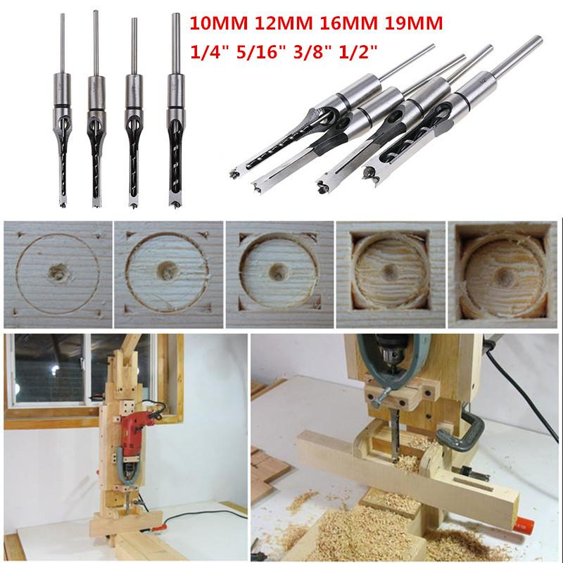 2020 Twist Drill Bits Square Auger Mortising Chisel Drill Set Square Hole Woodworking Mortise Chisel Wood Bit With Twist From Bqintian 36 78 Dhgate Com