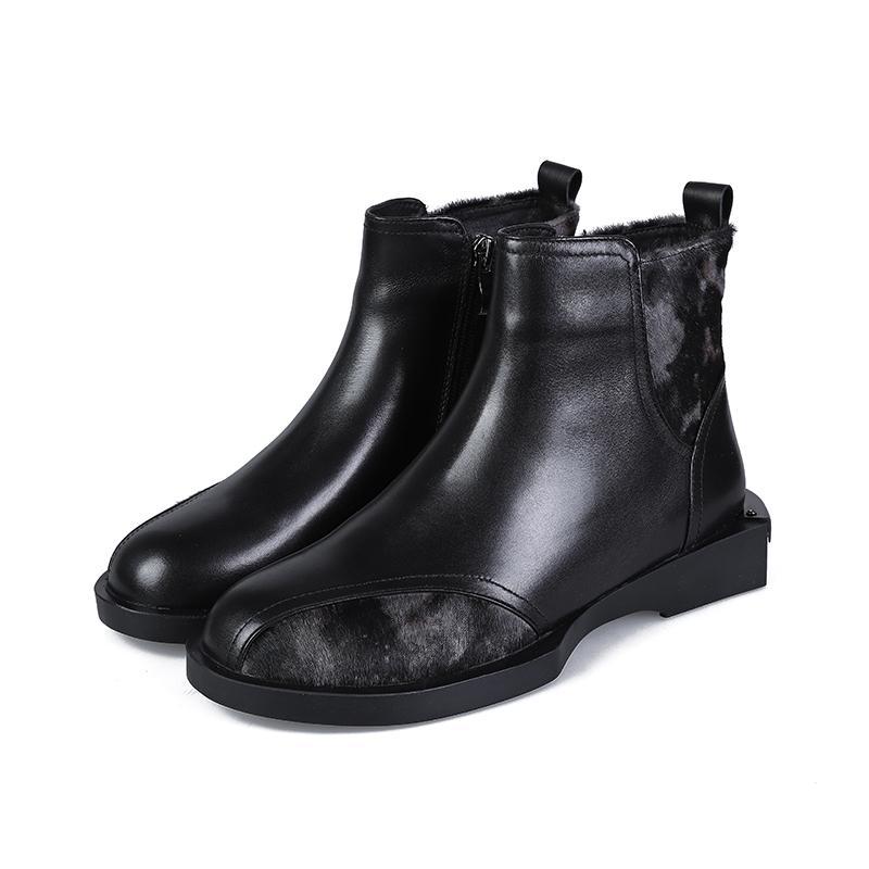الخريف والشتاء الأحذية النسائية الجديدة انكلترا الرياح الأزياء شقة الأحذية الصغيرة الرجعية البرية زائد المخملية الدافئة مارتن الأحذية