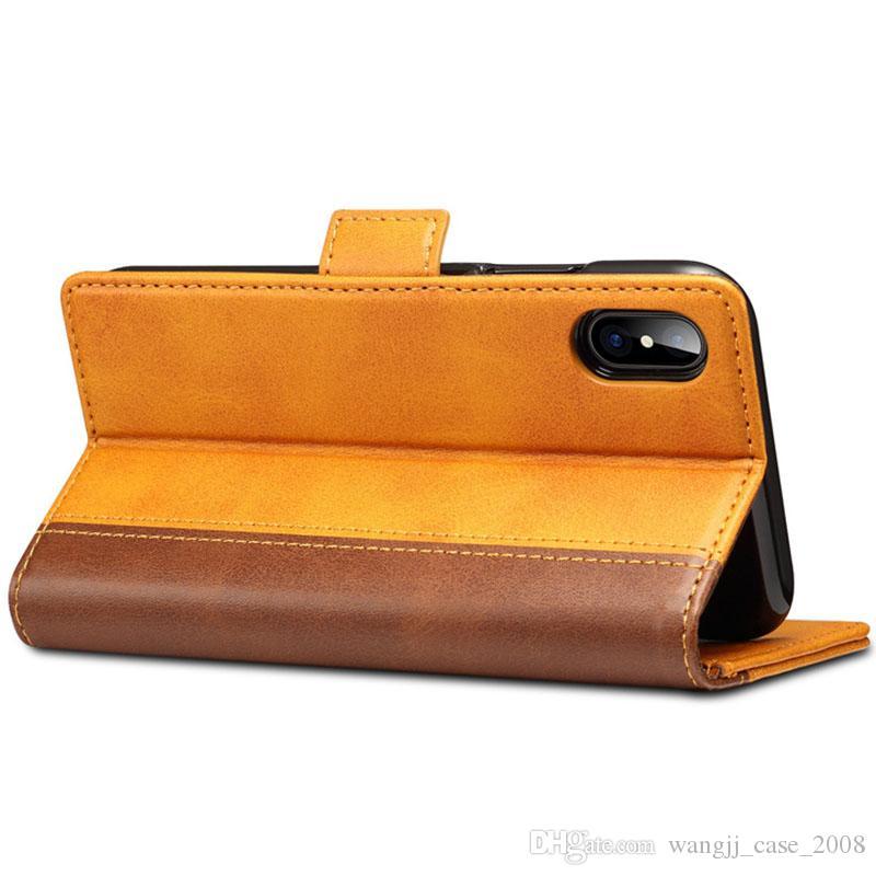 Funda telefónica para Apple iPhone 11 XS Max Leather PU caja de reserva para iPhone 7 8 Plus Case