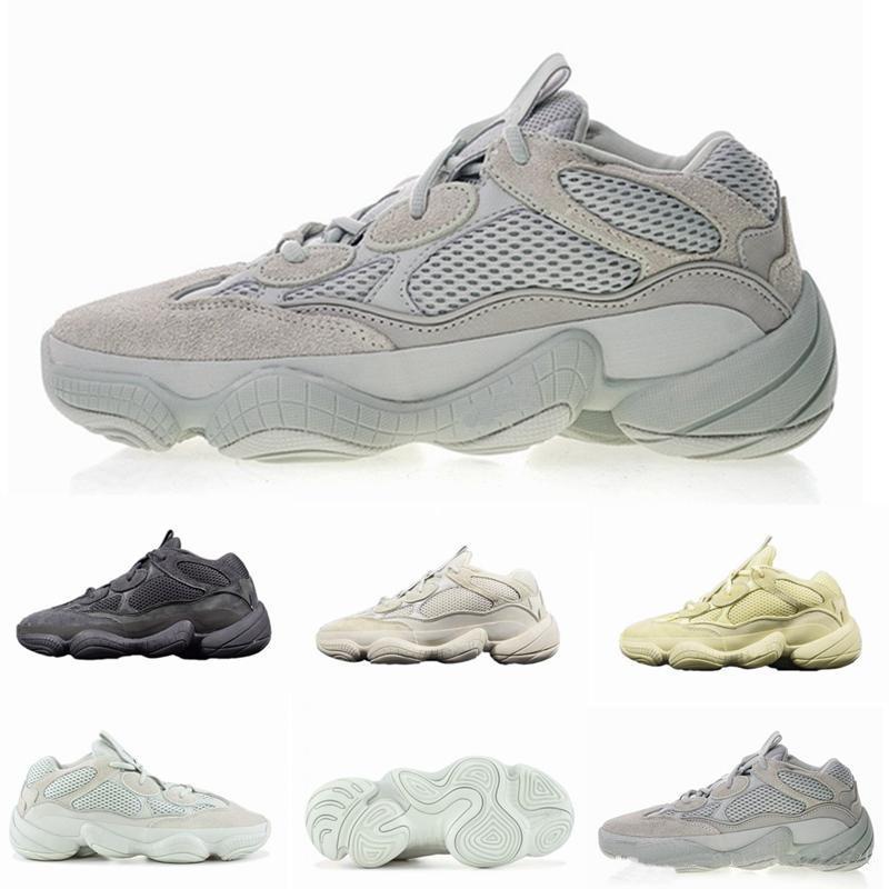 2020 Novo Adidas Yeezy Boost 500 Osso Branco Pedra Running Shoes Blush 500s Macio Visão Sal Super Lua amarela Utility Preto Kanye West dos homens as sapatilhas das mulheres