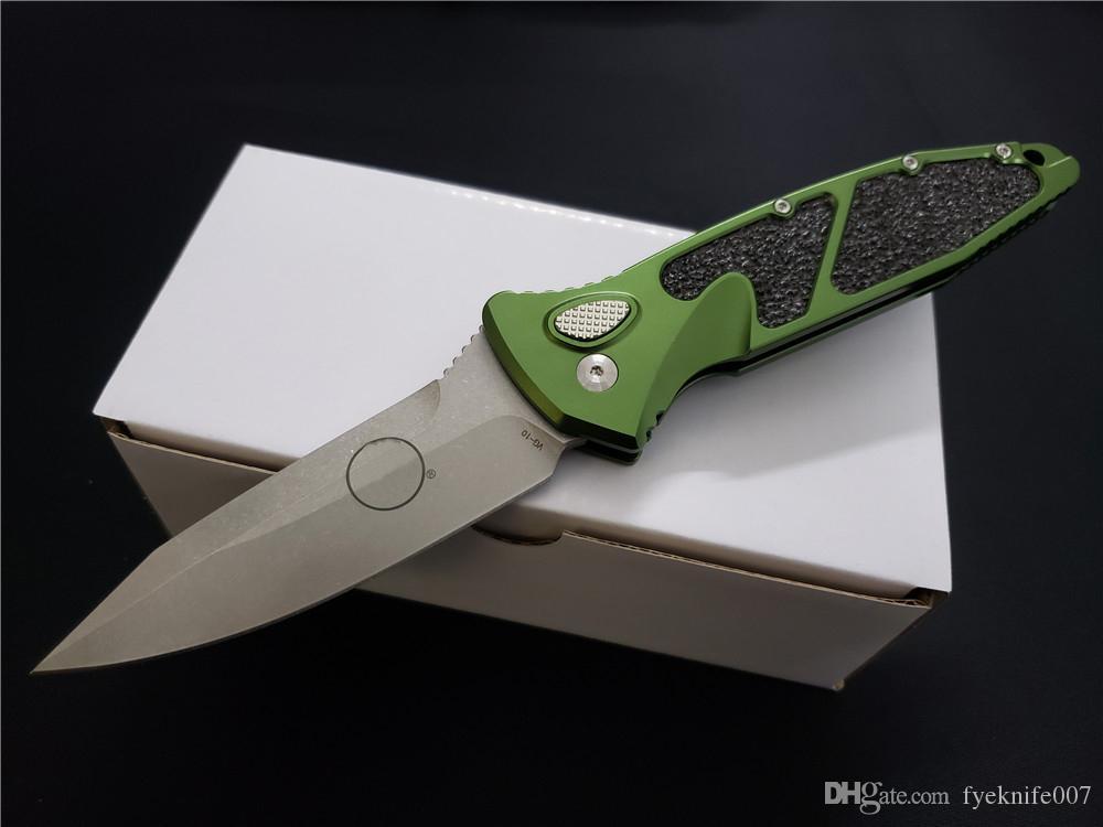 2019 2 Cor Micro Tactical Automatic Out Of Side faca de Aviação de alumínio ao ar livre camping folding faca caça auto-defesa Camping ferramentas