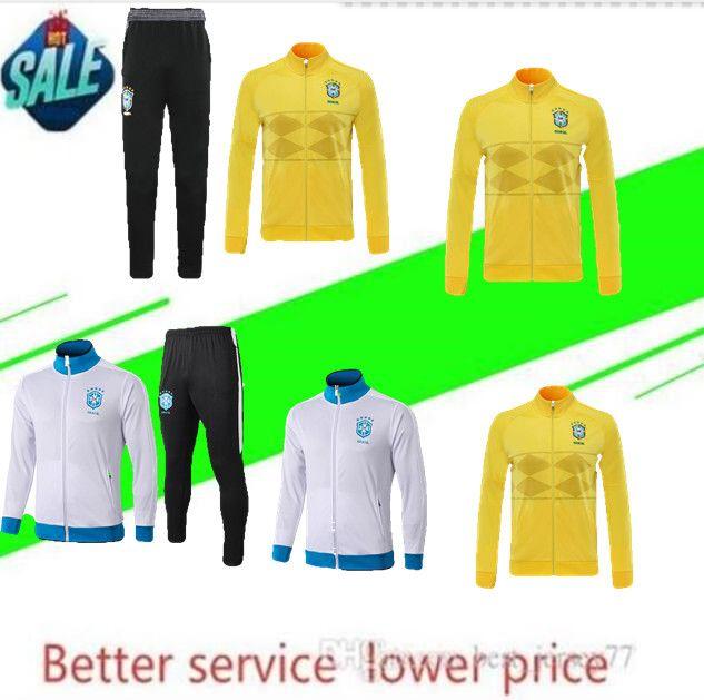 20/21 traje de entrenamiento de fútbol del Brasil chándal 2021 chandal D.COSTA G.JESUS P.COUTINHO MARCELO Brasil survetement la chaqueta del fútbol