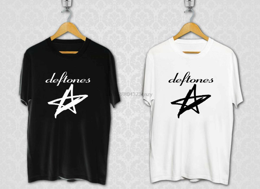 La banda de rock alternativo Deftones Estrellas camiseta blanca Negro tamaño XS a 3XL camiseta de regalo Más tamaño y los colores arriba camiseta