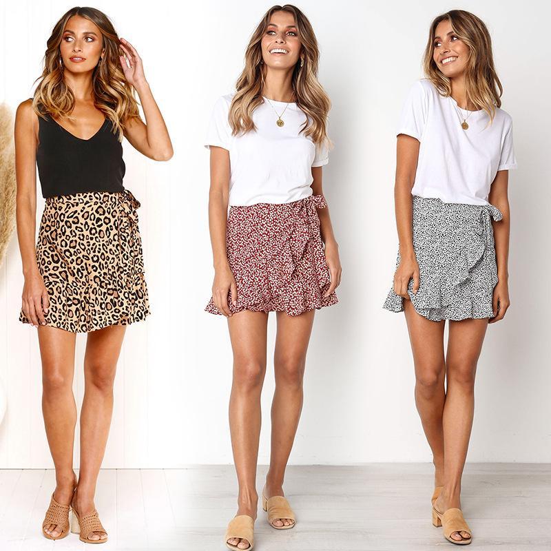 Atractiva la manera del leopardo de impresión de la falda corta de compras de las mujeres de la calle Club de estilo Desgaste niñas atractivo lindo Faldas 3 colores Ropa de Goodface