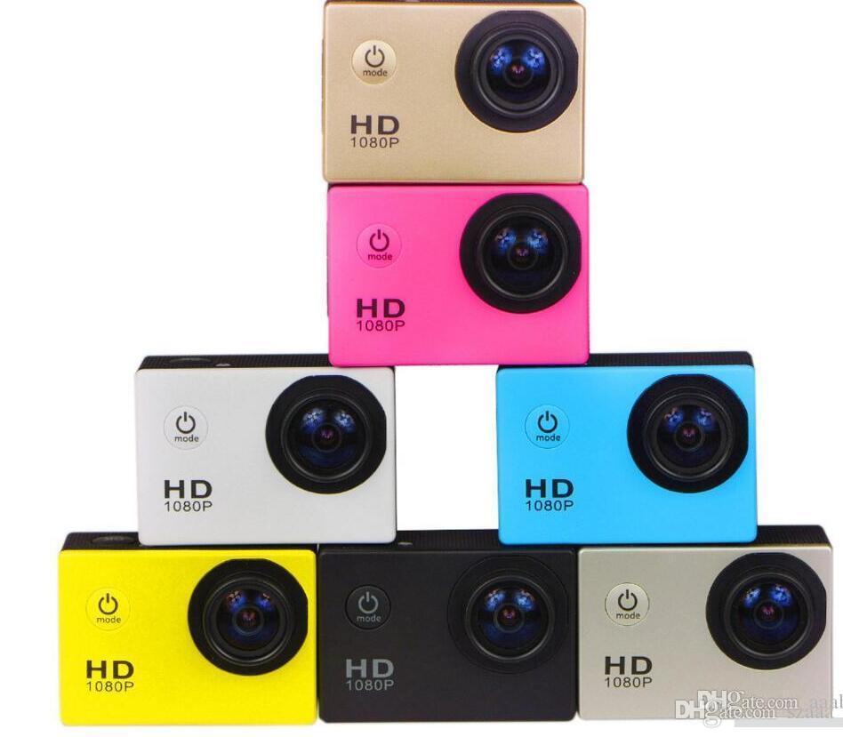 Mini Aktion Digitalkamera 1080P HD Nocken Wasserdicht 30M Sport DV Camcorder Schwarz / Weiß / Silber / Rot / Gelb / Gold / Blau