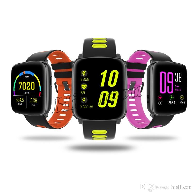 10pcs GV68 Smart Watch IPS Support Heart Rate Monitor Bluetooth Pedometer Dialing Remote Smartwatch IP68 waterproof For IOS iphone Android