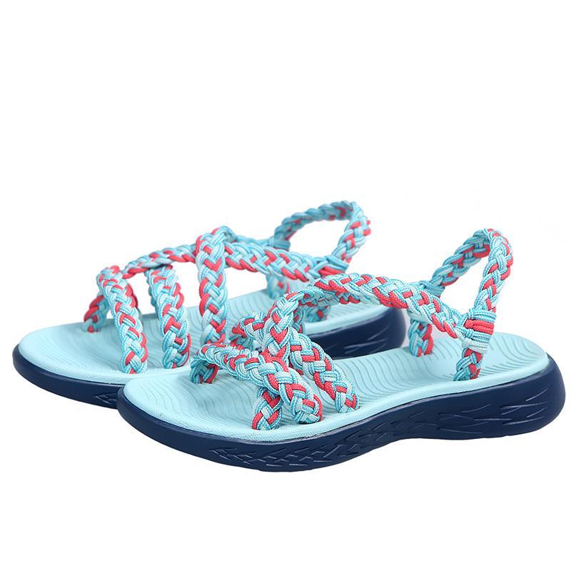 Chaussures LASPERAL 2020 Été Femmes Mode Sandales Solide Couleur Boucle Sangle Wedges Plate-forme Sandales Toe Retro Peep