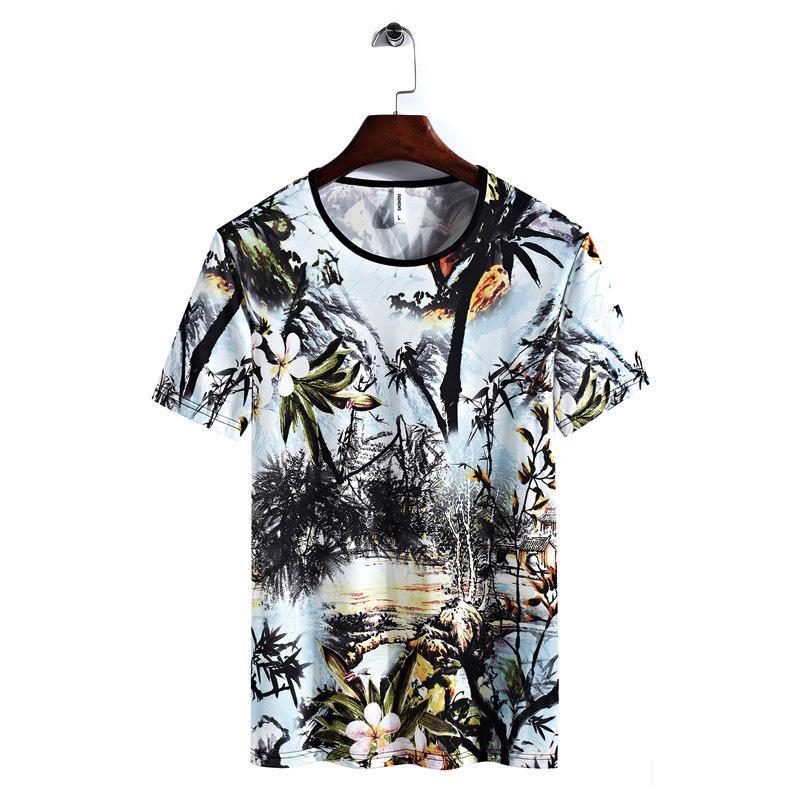 Männer Designer-T-Shirts aus 100% beiläufige Kleidung Stretchds Kleidung Natürliche Farbe njisd Schwarz Baumwolle Kurzarm Gewohnheit Karikatur-Mann-T-Shirt ki9dia