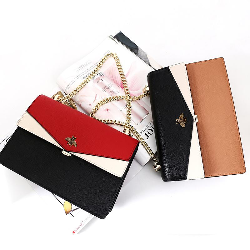 Leather Bag 2020 New-Handbags Wild Korean Version of the Shoulder Bag with Chain Womens Fashion Personality Explosion Models Small Bag