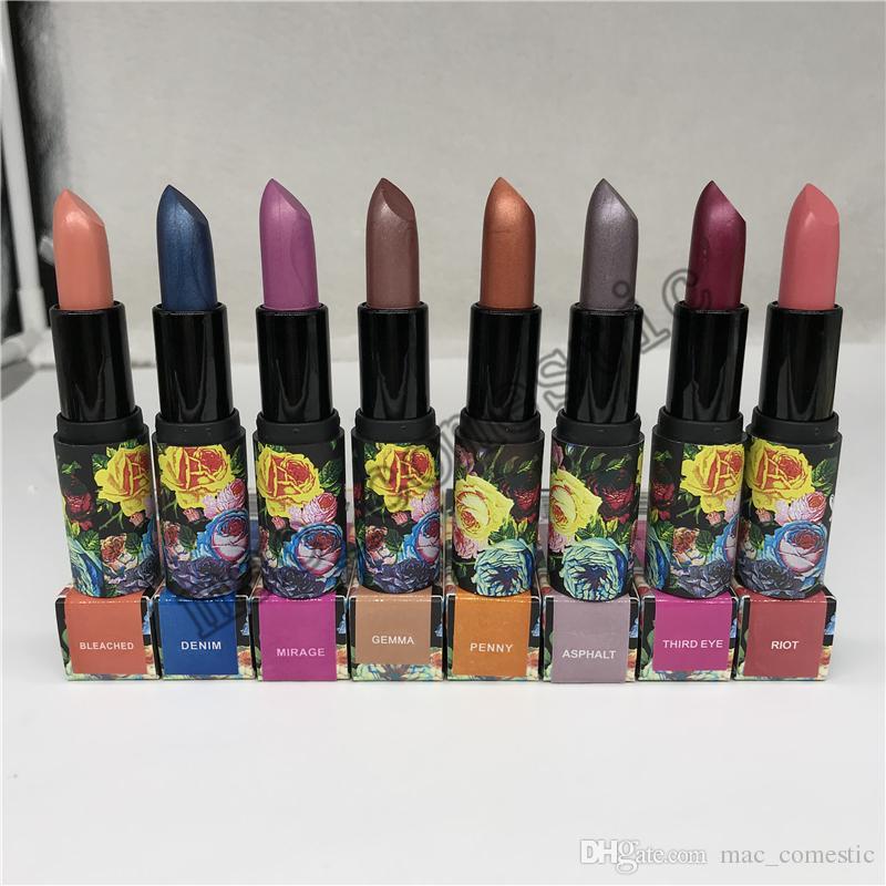 Dropshipping metal Batom PERLEES Glitter Lipstick 4.5g Waterproof Longo brilho duradouro Cor 8 cores 1pcs disponíveis transporte ePacket