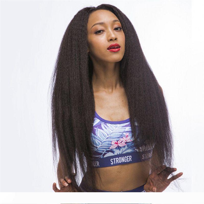 Кудрявые прямые парики фронта шнурка с волосами младенца перуанские человеческие волосы полные парики шнурка для чернокожих женщин