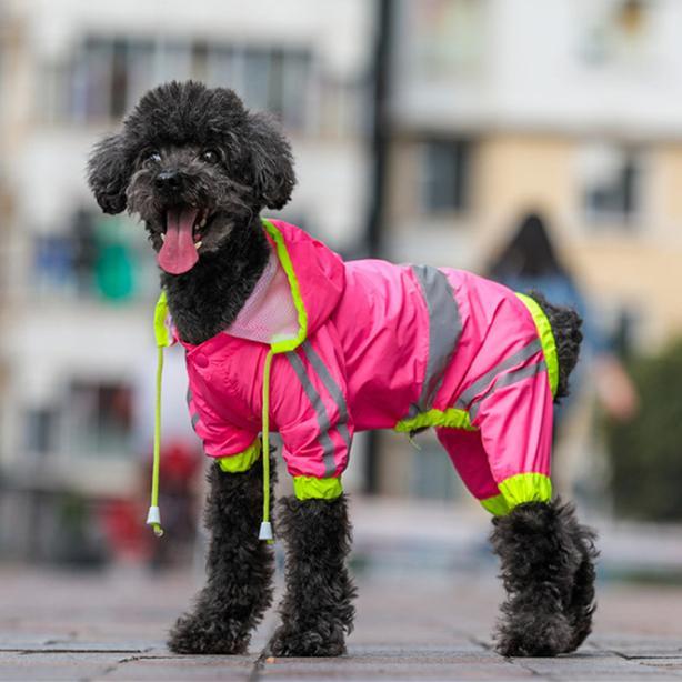 Casaco Para Pequenos Cães de Médio À Prova D 'Água Filhote de Cachorro Roupas de Chuva Reflexivo Cão Capa de Chuva Respirável Primavera Macacão Pet Overall Q190523