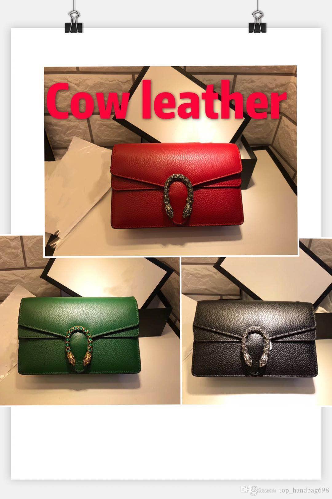 Mode sacs à main célèbres sacs de la chaîne de marque pour les femmes sac à bandoulière tête de serpent petit sac carré boîte Whit